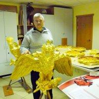 Золочения орлов к памятнику 1812 г :: Андрей Буховецкий