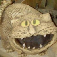 Кот керамический из петербургской мастерской Владимира Атабекяна. :: Светлана Калмыкова