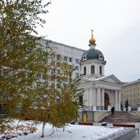 Храм-часовня Бориса и Глеба на Арбатской площади. :: Oleg4618 Шутченко