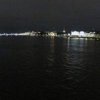 Ночная панорама с Благовещенского моста в Санкт-Петербурге :: genar-58 '