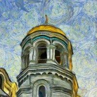 Взгляд Винсента  Ван Гога на Морской собор в Кронштадте... :: Tatiana Markova
