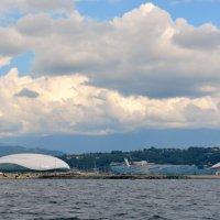 Олимпийская деревня вид с моря. Адлер :: Михаил Поскотинов