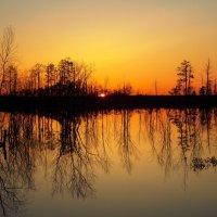 Весенний закат :: Леонид Чащин
