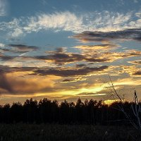 Небесная акварель, закат :: Лариса Димитрова