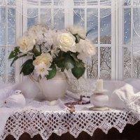 В снежном кружеве осень поздняя... :: Валентина Колова
