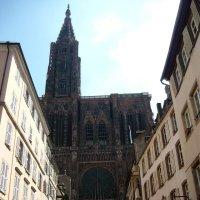 Вид на западный фасад Страсбургского Собора :: Надежда