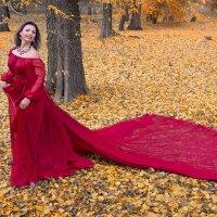 У осени красивая улыбка, В ней женщины добрейшее лицо, :: Райская птица Бородина