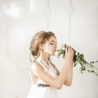 Белая роза :: Мария Дергунова