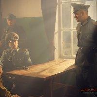 Немецкие офицеры допрашивают нашего партизана :: Denis Dosick