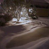 первый снег на даче :: Алексей Совалев