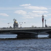 Вид с наб. Лейтенанта Шмидта  на Благовещенский мост :: Елена Павлова (Смолова)