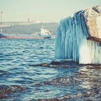Прибрежные камни оделись в ледяные одежды :: Эдуард Куклин