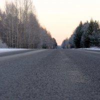 Зимняя дорога в Северодвинск. :: Михаил Поскотинов