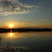 закат над рекой :: оксана
