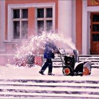 Полтора снегокопа в розовом свете :: Кай-8 (Ярослав) Забелин
