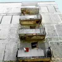Балконы общежития. :: Александр Бурилов