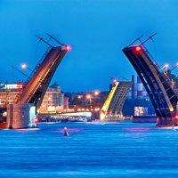 Биржевой мост и Тучков мост :: Алексей Кудрявцев