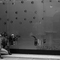 девочка с собакой у зоомагазина :: Айдимир .