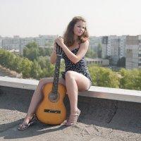 """""""Девушка с гитарой"""" :: Женя Рыжов"""