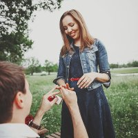 Красивое и романтичное предложение руки и сердца :: Ольга Самойлова