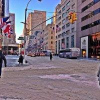 Прогулки  по  Нью -Йорку.   Снег  выпал ! :: Виталий Селиванов