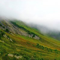 Туман в горах. Сочи.Красная поляна. :: Николай Крюков