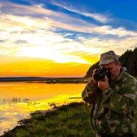Фотограф на закате :: Глеб Баринов