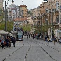 Трамвайно-пешеходная улица Яффо, Иерусалим :: Владимир Брагилевский