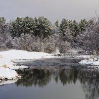 Отражение в зимней реке :: Геннадий Г.