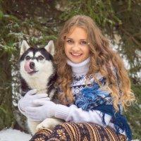 Портрет с собакой облизакой :: Роман Репин