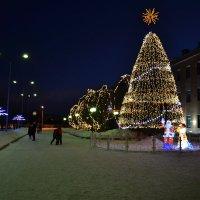 Зимний вечер в Кандалакше :: Ольга