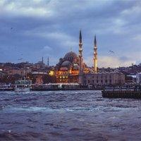 Вечер на заливе Золотой рог в Стамбуле :: Ирина Лепнёва