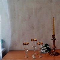 Этюд со свечой на балконе :: Нина Корешкова