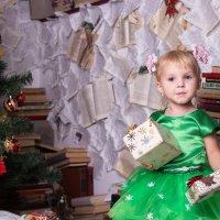 Девочка с подарками в платье :: Valentina Zaytseva