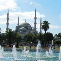 Голубая мечеть с фонтаном :: Ольга Васильева