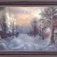 Зимняя улочка Богучан :: Anastasiya Ageeva