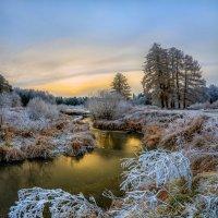 Золотая река в инее :: Фёдор. Лашков