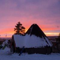 Солнце ночью в Лапландии :: Vadim Odintsov