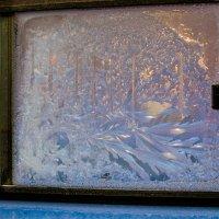 Морозные узоры на окне троллейбуса :: Albina
