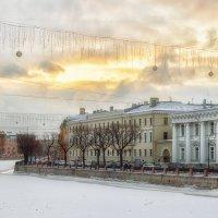 Декабрьский вид на набережную Фонтанки :: Сергей В. Комаров