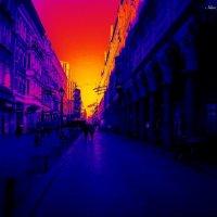 Мой синий город в золотом закате :: Nina Yudicheva