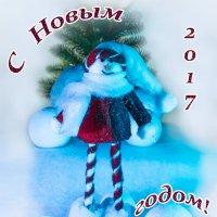 Новогодняя открытка :: Вера Бережная