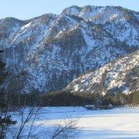 Водохранилище Чемальской ГЭС подо льдом :: Galaelina