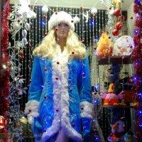 Синеглазая блондинка, в шубке светло голубой, ночью, с полупьяным дедом  завалилась к нам домой :: Андрей Заломленков