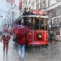Красный трамвай... :: Liliya
