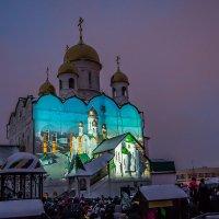 У храма Иоанна Богослова прошло новогоднее 3D-шоу :: Андрей Поляков