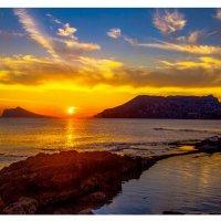 Закат на Средиземном море. :: Евгений Леоненко