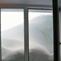 Снежные заносы в Новосибирске.Сегодня утром вид из моих окон. :: Оксана Бригеман