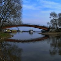Мост через Стрельнинский канал. :: Владимир Ильич Батарин