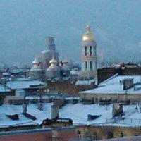 Вид с крыши на Владимирский собор. (С-Петербург) :: Светлана Калмыкова